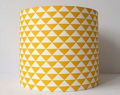 High Quality Yellow Geometric Lampshade, Mustard Lamp Shade, Mustard Yellow Decor, Retro  Lamp Shades,