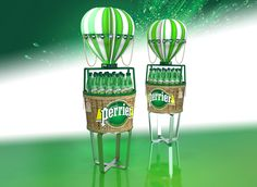 Perrier water display on Behance