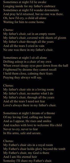 My Father's Chair - David Meece
