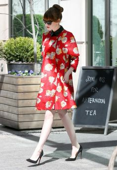 Emma Stone in Brock Collection