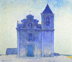 YUJI TAMAKI - (1916 - 1979)    Título: Igreja  Técnica: técnica mista  Medidas: 71 x 81 cm  Assinatura: canto inferior esquerdo