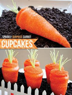 How cute are these carrot cupcakes!?