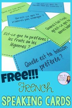 These French speaking prompts are a great way to practice food vocabulary with beginning core and FSL classes. Includes 40 cards and fun ideas for using these with a variety of speaking activities for the beginning foreign language class. Click here to get them now for FREE!