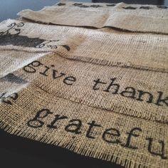 Fall Burlap Placemats Set of 4 by ParrisChicBoutique on Etsy, $15.00