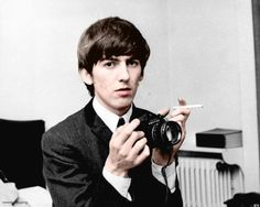love photography music photo vintage MY EDIT the beatles sixties camera colour peace icon color george harrison 1960s beatles legend 60s 1000 notes: