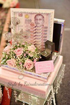 Hantaran fresh flower pastel pink