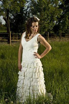 Vestidos de novia exclusivos a crochet!...  Fran Vallejos, La revolucion de las novias a color   contacto@franvallejos.cl  76493792