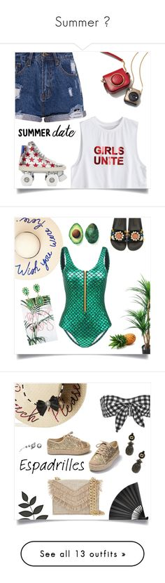 """""""Summer 🌴"""" by anduu19 ❤ liked on Polyvore featuring Yves Saint Laurent, Eugenia Kim, Dolce&Gabbana, Sutra, Tracie Andrews, Betsey Johnson, Ephemera, Cara, Cynthia Rowley and Gucci"""