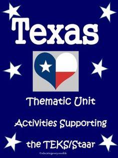 Texas - Reading Comprehension, Math, And Social Studies - A fun collection of activities for the classroom! #tpt #texas #teacherfun
