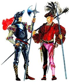 немецкий рыцарь и ландскнехт.jpg (674×807)