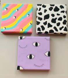 Small Canvas Paintings, Easy Canvas Art, Small Canvas Art, Cute Paintings, Mini Canvas Art, Diy Canvas, Easy Canvas Painting, Disney Canvas Art, Small Art