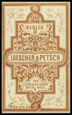 Loescher & Petsch | Sheaff : ephemera