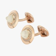 Lilly Street - Moonstone Cufflinks in Rose Gold. 18k Rose Gold, Pink And Gold, Cufflinks, Street, Diamond, Accessories, Diamonds, Wedding Cufflinks, Walkway