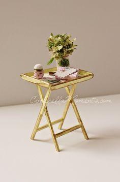 http://www.cinderellamoments.com/ Dollhouse Miniature Tray Table Tutorial