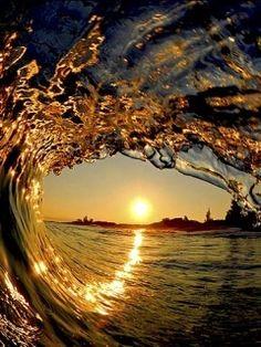 Sun Wave Mobile Wallpaper