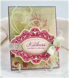 Kindness card designed using Spellbinders Labels Twenty card designed by Debbie Olson