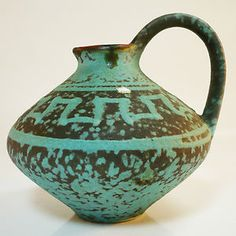 West German Pottery Vase • Ü-Keramik Uebelacker / Übelacker • Mid Century • 70s