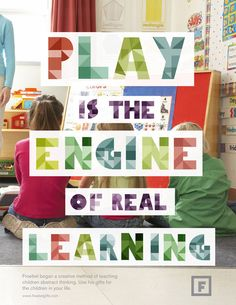 Play is the Engine of Real Learning Preschool Quotes, Teaching Quotes, Preschool Classroom, Education Quotes, In Kindergarten, Teaching Kids, Classroom Quotes, Classroom Activities, Classroom Ideas