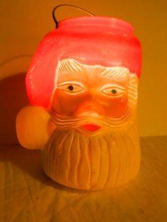 Vintage 1960's Santa Claus Plastic Candle by TheIDconnection, $65.00  Vintage 1960's Santa Claus Lantern http://TheIDconnection.etsy.com Retro 60's X-Mas Decoration Antique Holiday art  http://etsy.me/168jIsG via @Etsy
