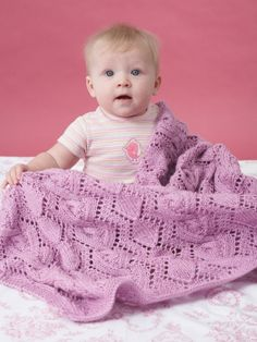 Cable and Lace Blanket | Yarn | Free Knitting Patterns | Crochet Patterns | Yarnspirations