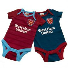 - 2 pack bodysuit- to fit 0 / 3 months cotton- official licensed product West Ham United Fc, Football Accessories, Football Memorabilia, Soccer Gifts, Clothing Tags, Professional Football, Sport, Baby Bodysuit, London Football