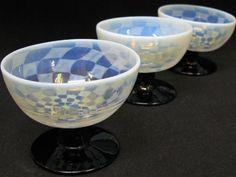 【アンティーク 古道具 JIKOH】レトロ ジャパン ヴィンテージ ガラス食器 氷コップ デザートグラス 3客セット!!【楽天市場】ハンドメイドの味わい高し