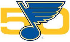 St. Louis Blues Anniversary Logo (2017) -