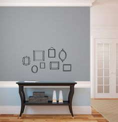 Doodle Frame Wall Decal Custom Vinyl Art Stickers by danadecals