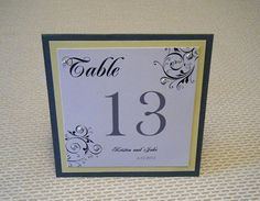 Table Numbers for Weddings by SouthernBellWeddings on Etsy, $4.00