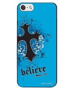 Believe Cross Iphone 5 Case - Christian Phone Cases for $19.99 | C28.com