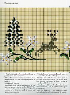 sachet de Noël - grille 1/2 (voir ouvrage fait)