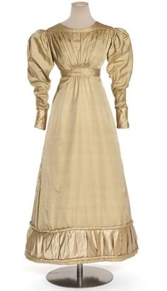 Satin and twill dress, French, c. 1822.