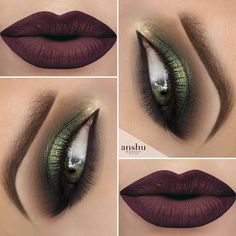 Perfect makeup for gray and brown eyes! Very sensual… #greeneyemakeup