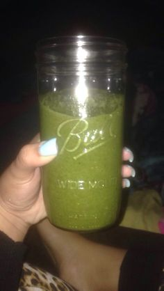 Great idea for HCG phase 2! 2 cups of spinach & a handful of frozen strawberries, blend, & voilá!