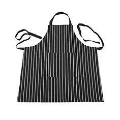 Bib Apron - TOOGOO(R)Kitchen Baking Ware Zebra Chalk Stripes Bib Apron with Pockets