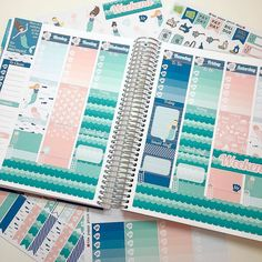 Here's a shot of the NEW Modern Mermaid kit before the pen! The kits and a la carte sheets off the ability to do either white space or no white space layouts! Save 15% off your entire purchase through tomorrow with code NEW15! Coupon excludes mystery kits. #planner #planning #plannergeek #plannergirl #plannernerd #plannergoodies #plannercommunity #eclp #etsyshop #erincondren #eclifeplanner #teamvertical #targetdollarspot #plumpaperplanner #inkwellpressplanner #kikkik #kikkikloves…