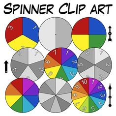Awesome Spinner Clip Art! These will be great for creating games and activities. Love all the variations! $
