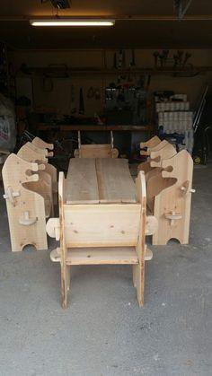 Viking bench dining set