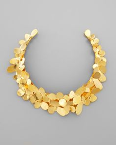Herve Van Der Straeten Gold Petal Collar Necklace - Neiman Marcus