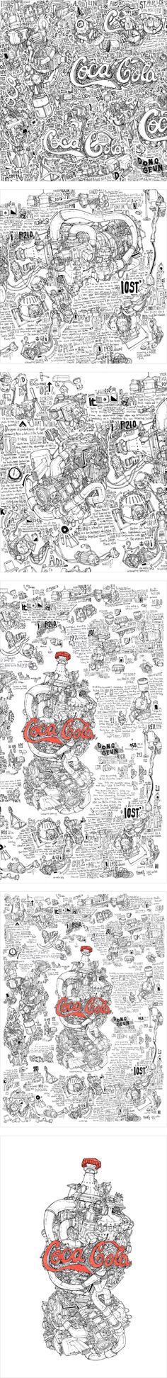 Coca-Cola - 그래픽디자인, 드로잉, 일러스트