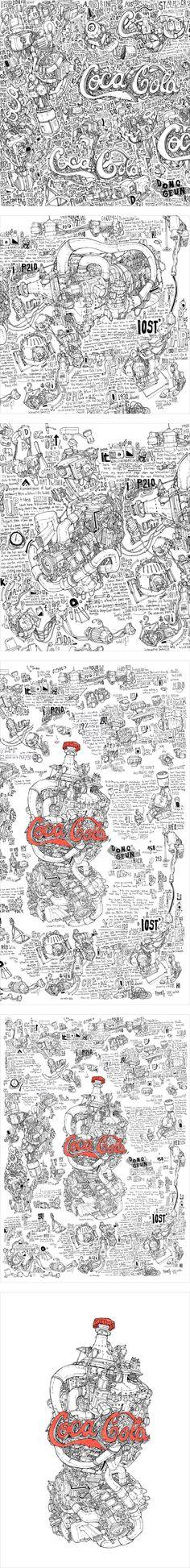 Coca-Cola by DongGeun Lee, via Behance