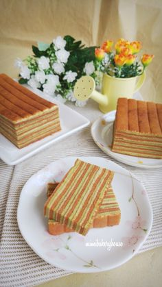 MiMi Bakery House: Kek Lapis Pandan Chocolate 香兰巧克力千层蛋糕 [17 May 2016]