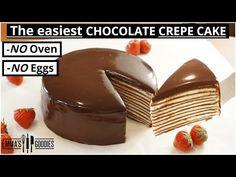 15 Minute Chocolate Crepe Cake ANYONE Can Make! - YouTube 3 Ingredient Cakes, Goody Recipe, Chocolate Crepes, Crepe Cake, Cake Fillings, Best Cake Recipes, Brownie Cake, Pumpkin Cheesecake, Special Recipes