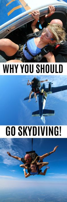 Skydiving is awesome! Pin now to read about my skydiving experience in Texas. It's the perfect birthday gift!