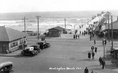 Huntington Beach Pier, circa early 1920s | Flickr - Photo Sharing! Photo courtesy Orange County Archives
