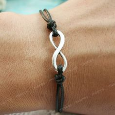 Bracelet infinity bracelet black karma bracelet for by mosnos, $4.99