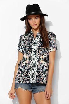 MINKPINK X UO Daisy Bomb Button-Down Shirt