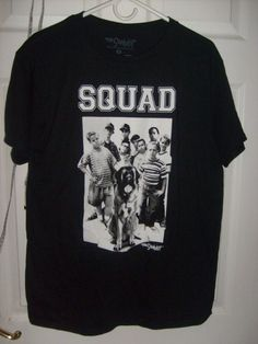 THE SAND LOT SQUAD WITH BIG DOG MEDIUM BLACK T SHIRT NEW SPENCER'S BREW CITY #SPENCERS #GraphicTee
