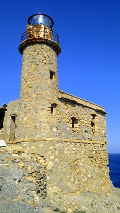 Lighthouse of Agios Ioannis-Aforesmenos Crete Island Crete Island, Crete Greece, Being In The World, Archaeological Site, Lighthouses, Wonderful Places, Light Up, Sailing, House Plans