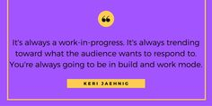 A quote from my recent interview at Keyhole: Bottom line - Online marketing is always a work in progress!     See all of my quotes & get social media marketing tips at: